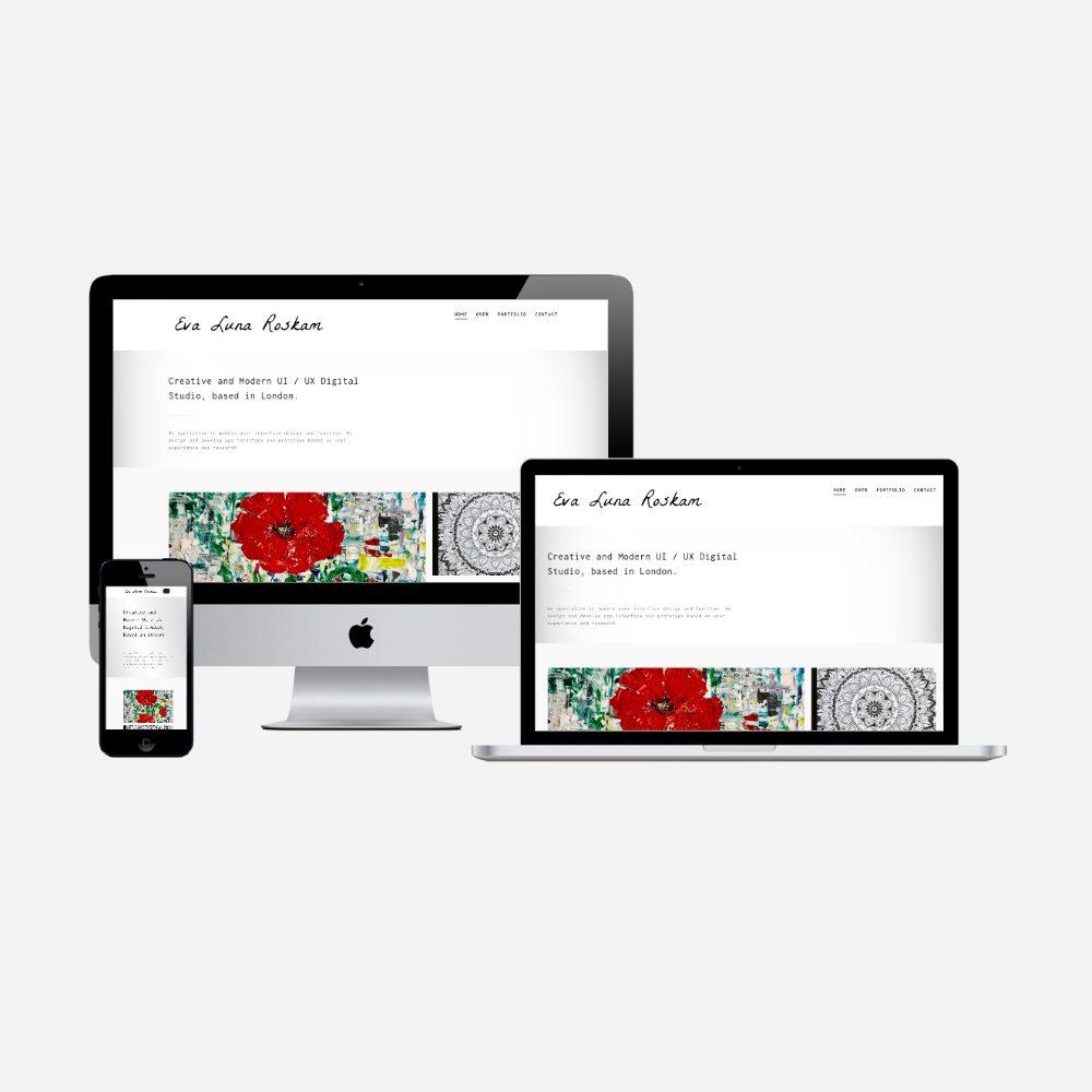 Portflio website Eva Luna Roskam
